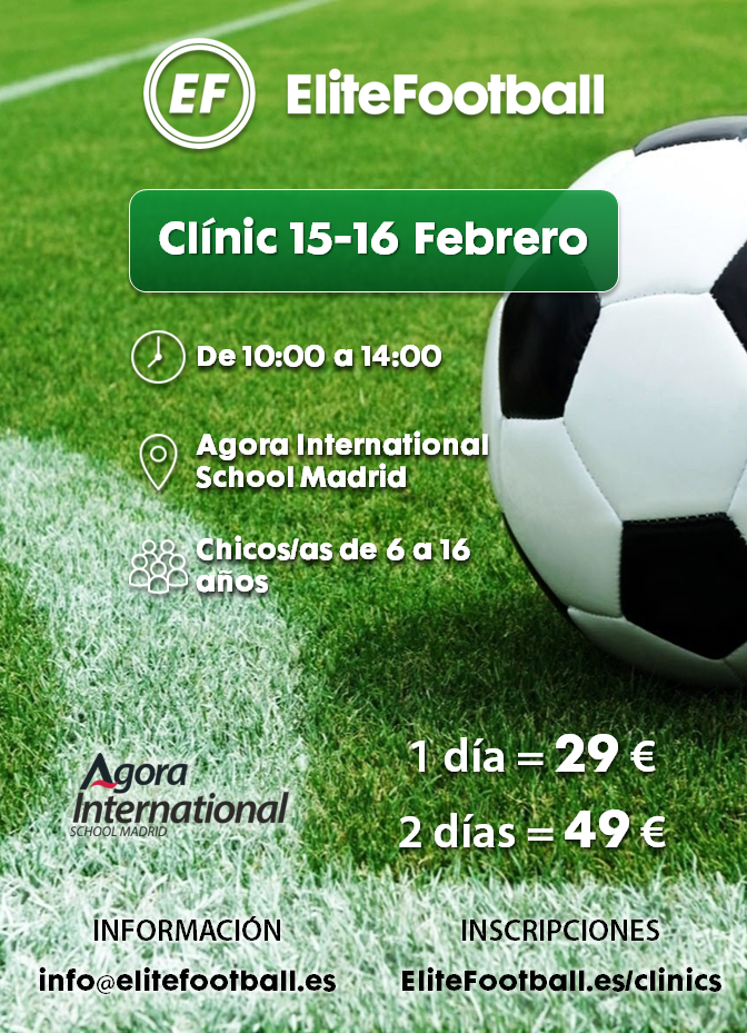 Clinic EliteFootball-Agora 15-16 feb 2018